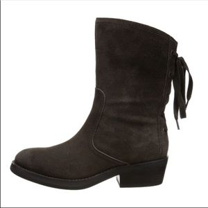 Nine West brown suede leather krasher boots